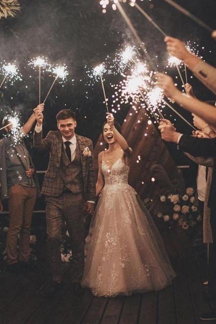 Gorgeous Wedding Dress A Line Lace | Wedding dresses tulle
