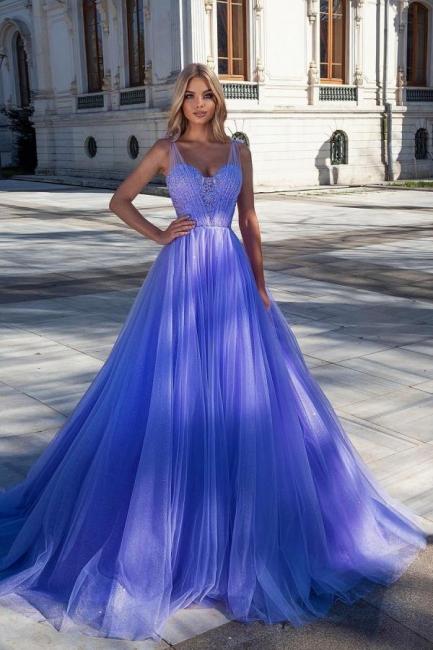 Evening dresses long glitter | Blue prom dresses cheap