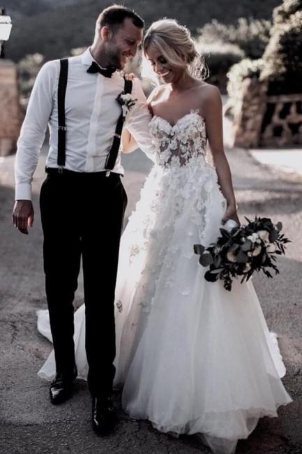 Boho Brautkleider A Linie | Hochzeitskleider Mit Spitze