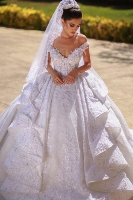 Beautiful wedding dresses A line lace | Wedding dresses cheap