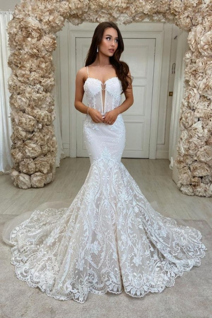Beautiful mermaid wedding dresses | Wedding dresses lace