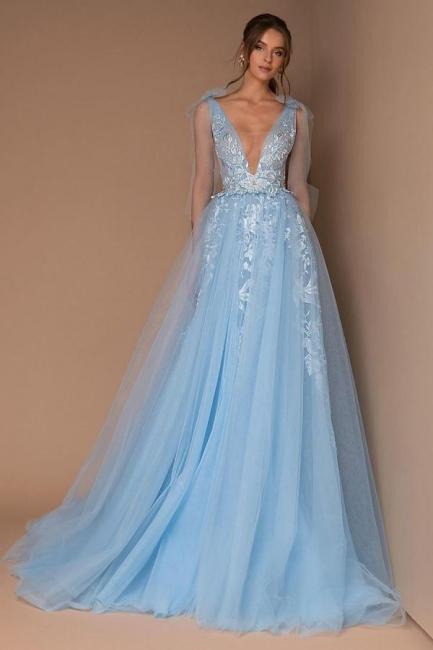 Heller Blau Abendkleider Lang   Abendmoden Online