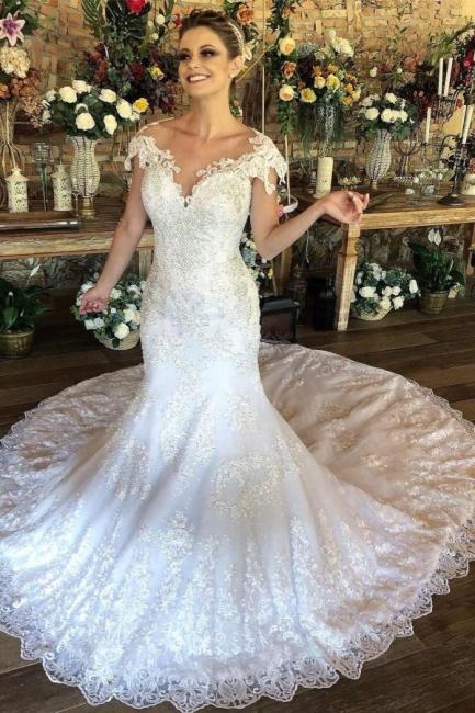 Gorgeous mermaid wedding dresses   Wedding dresses with lace