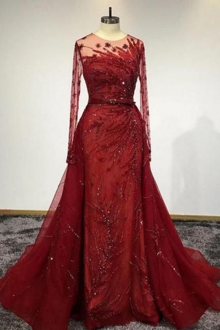Designer Evening Dresses Long Red | Prom dresses with glitter