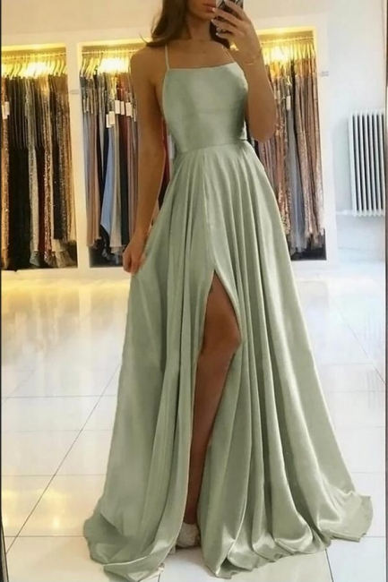 Schlichtes Abendkleid Lang Grün | Abiballkleider Günstig