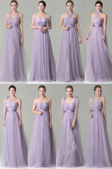 Wandelbare Brautjungfernkleider Lilac | Kleider Für Brautjungfern