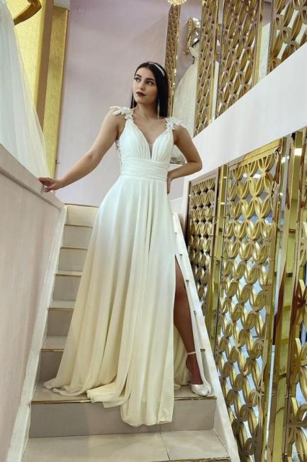 Schlichtes Hochzeitskleid Günstig   Brautkleider Mit Spitze