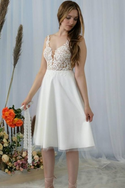 Simple wedding dress with lace | Wedding dresses short