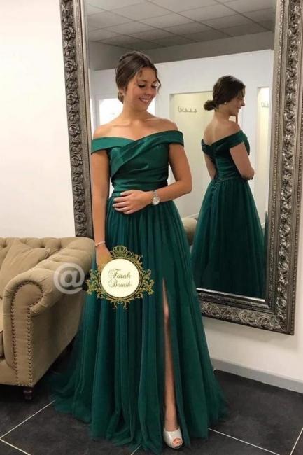 Schlichtes Abendkleid | Abendkleider Lang Grün