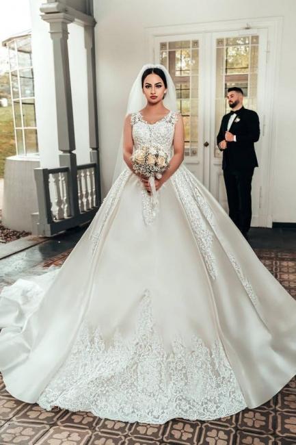 Brautkleider A Linie Spitze | Satin Hochzeitskleider Online