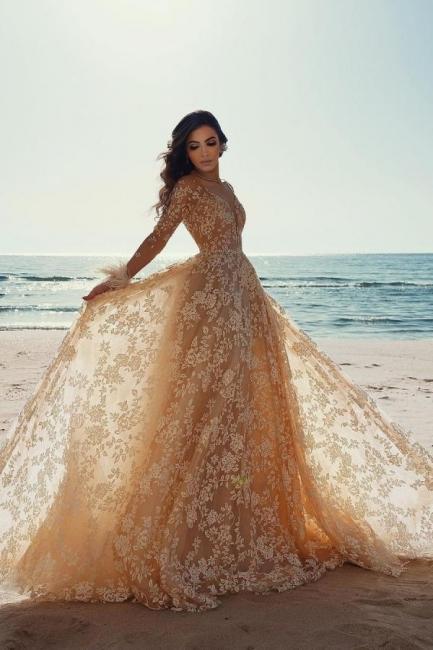 Designer Brautkleider Mit Ärmel | Hochzeitskleider Spitze