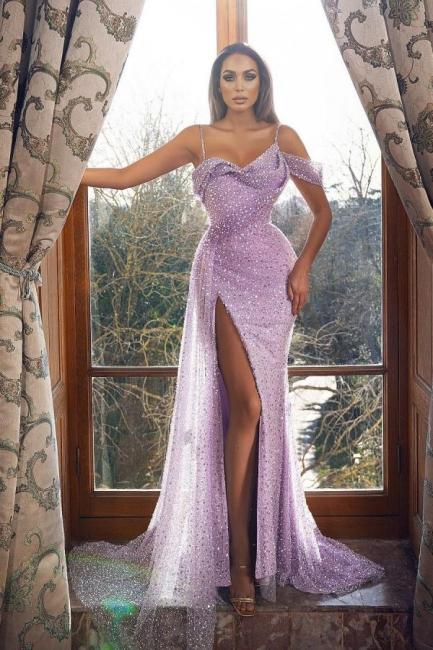Lilac Abiballkleider Lang Glitzer | Abendkleider Günstig Kaufen