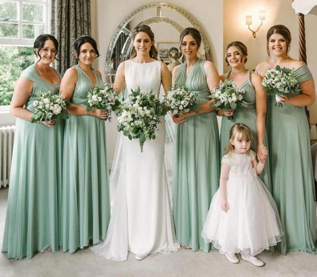 Günstige Brautjungfernkleider Mintgrün   Kleider für Brautjungfern