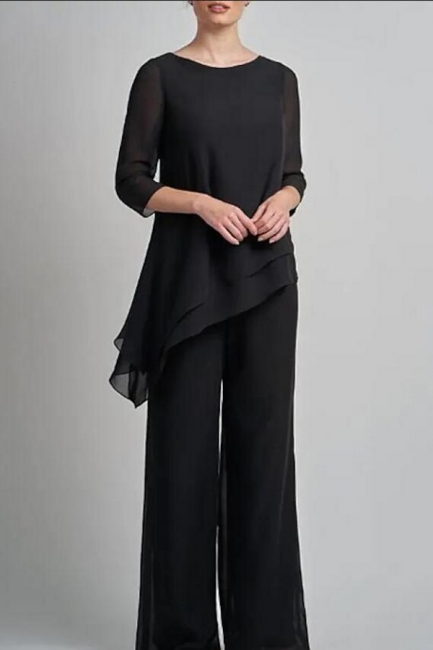 2 piece bridesmaid dress black | Mother of the Bride Dress Long Cheap