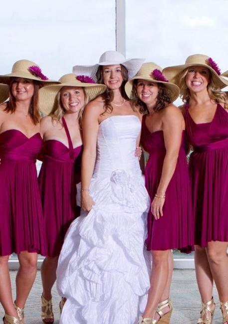 Convertible Bridesmaid Dresses Short | Fuchisa bridesmaid dress cheap