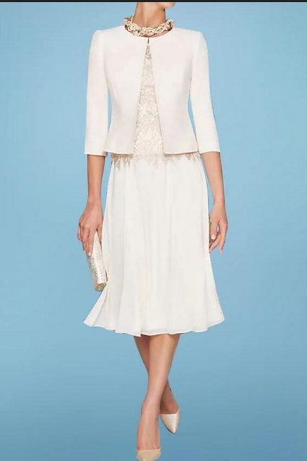 Simple Mother of the Bride Dresses Short | Dresses Mother of the Bride With Jacket