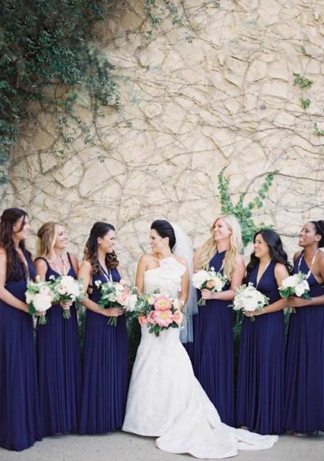 Convertible Bridesmaid Dresses Dark Blue | Cheap bridesmaid dresses