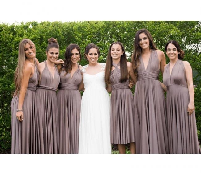 Wandelbare Brautjungfernkleider Braun | Brautjungfernkleid Lang Günstig