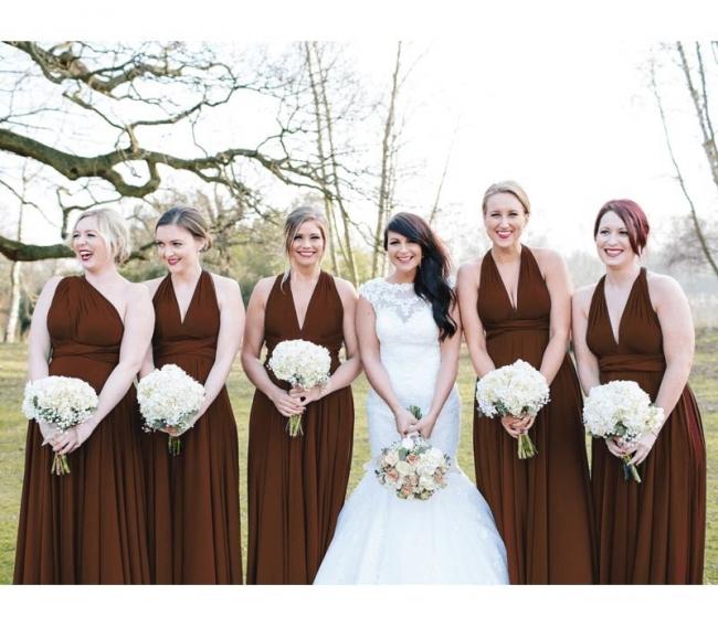 Weinrot Brautjungfernkleider Günstig   Wandelbare Kleider Für Brautjungfern