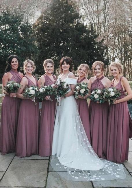 Convertible Bridesmaid Dresses Long | Briar maid dress dusty pink