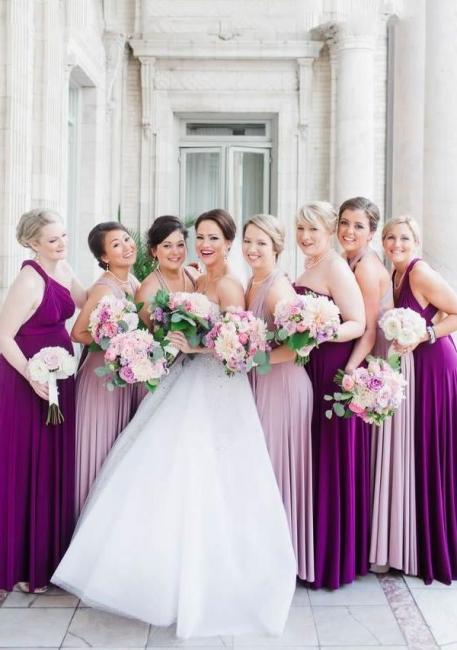 Wandelbare Brautjungfernkleider Pastell | Kleider für Brautjungfern