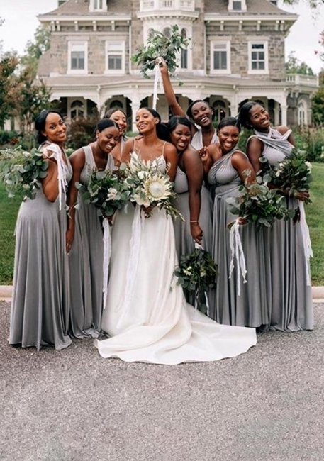 Silber Brautjungfernkleider Lang   Brautjungfernkleid Günstig Online