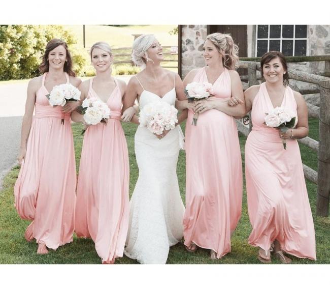 Wandelbare Boho Brautjungfernkleider   Kleider Für Brautjungfern