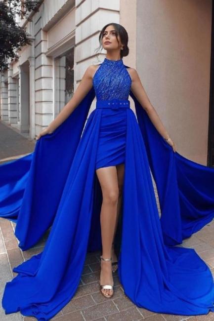 König Blau Abendkleider Günstig | Abiballkleider Lang Online