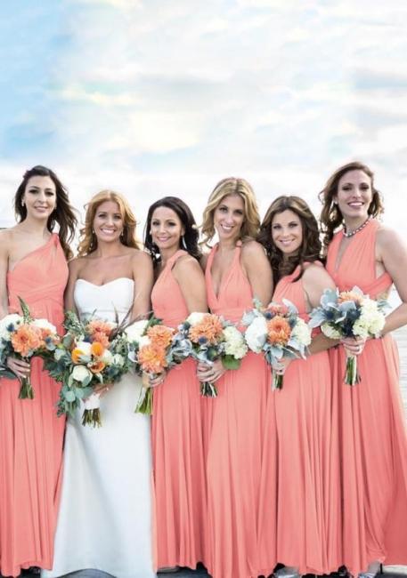 Rosa Brautjungfernkleider Lang | Brautjungfernkleid Wandelbar Günstig