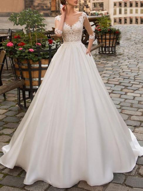 Elegant wedding dresses princess   Wedding dresses with sleeves
