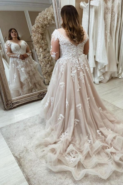 Beautiful plus size wedding dresses | Wedding dresses with lace sleeves