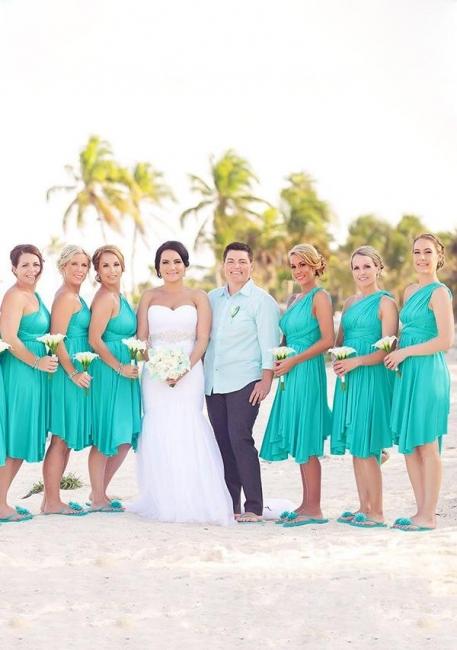 Convertible Bridesmaid Dresses Short | Bridesmaid dresses green