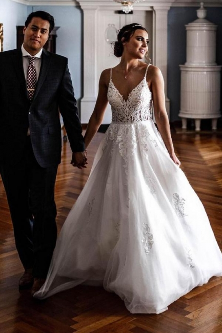 Elegant Wedding Dresses A Line Lace | Cheap Wedding Dresses Online