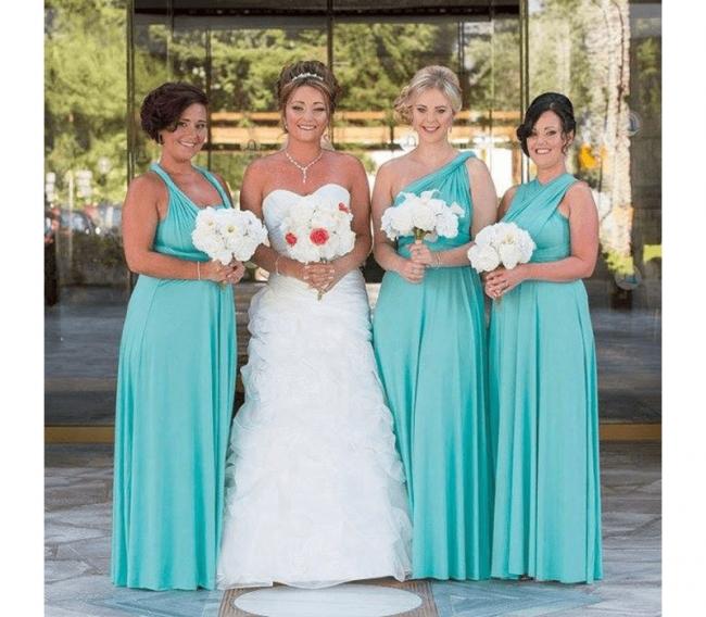 Lange Brautjungfernkleider Mintgrün | Kleider für Brautjungfern