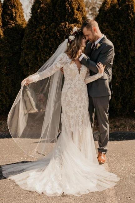 Wedding dresses with sleeves | Wedding dresses mermaid lace