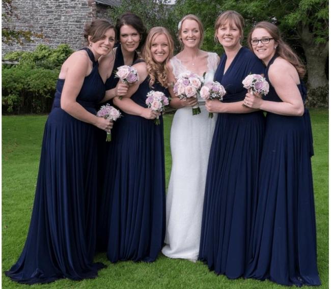 Convertible Bridesmaid Dresses Navy Blue | Long bridesmaid dresses