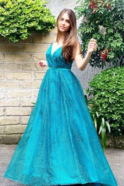 Türkisch Abendkleider Lang Glitzer   Abiballkleider Günstig Online