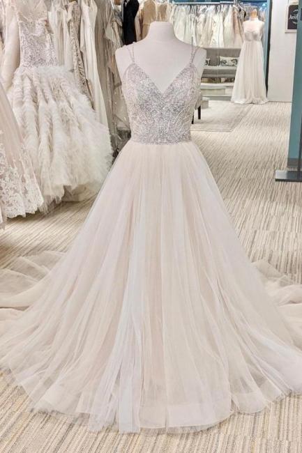 Schöne Brautkleider A Linie   Hochzeitskleider Glitzer