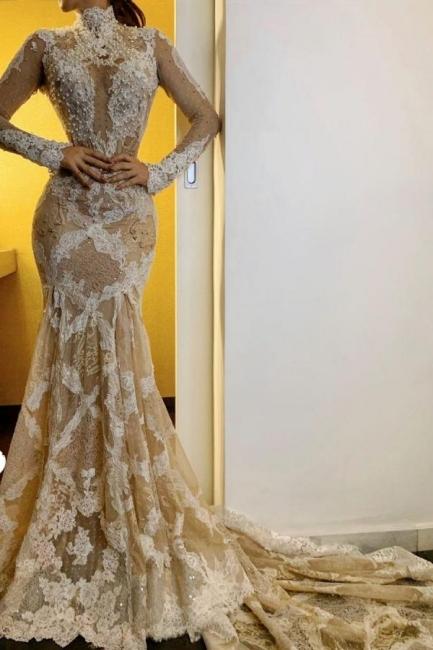 New wedding dresses long sleeves | Wedding dresses mermaid lace