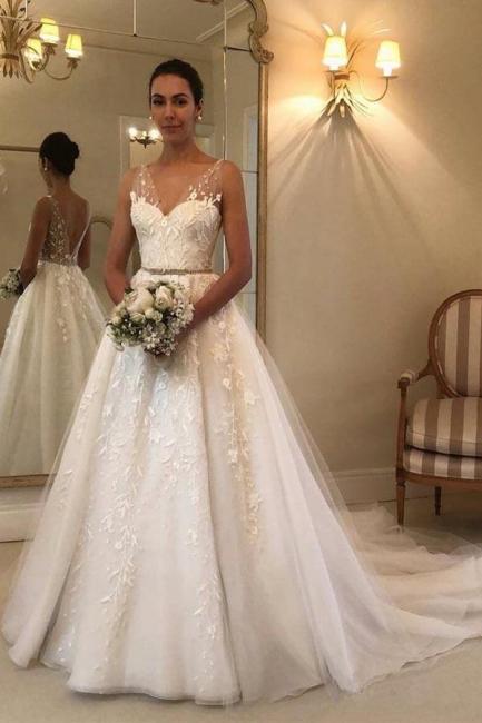 Elegant wedding dresses with lace | Wedding dresses A line cheap