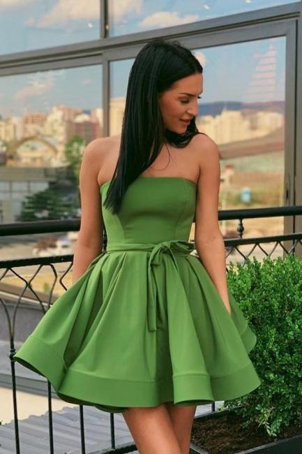 Elegante Cocktailkleider Kurz | Abendkleid Abiballkleider Grün