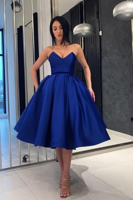 Designer Blaue Cocktailkleider Kurz Mini Abendkleider Günstig Online