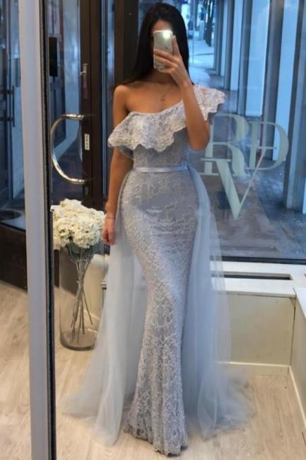 Blaue Abendkleider Mit Ärmel | Abiballkleider Mit Spitze
