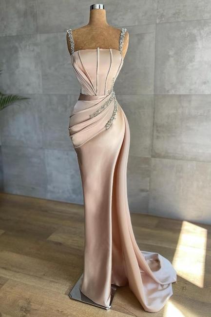 Champagne Abendkleider Lang Glitzer   Abendmoden Online
