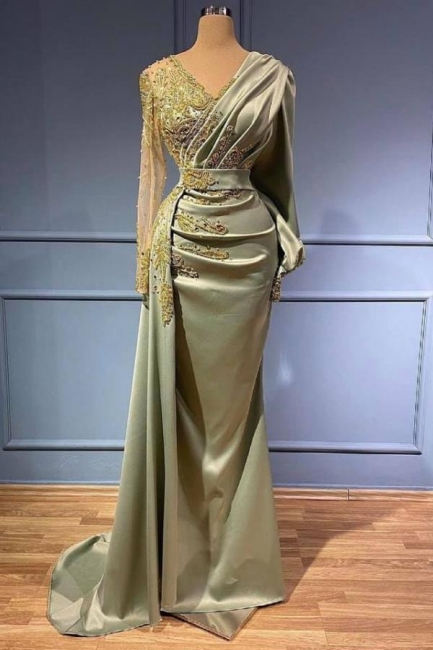 Elegant evening dresses with sleeves | Prom dresses long cheap