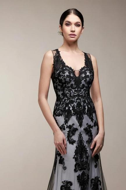 Black mermaid wedding dress | Wedding dresses with lace