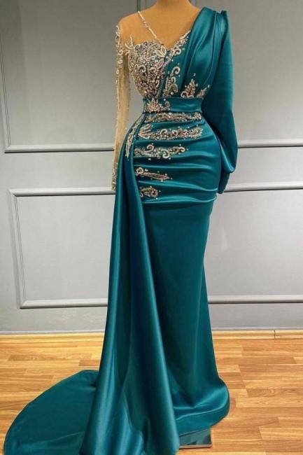 Türkische Abendkleider Lang Günstig | Abiballkleider mit Ärmel
