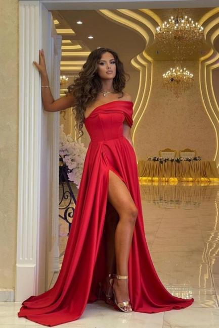 Schlichtes Abendkleid Lang Rot | Abendmoden Online