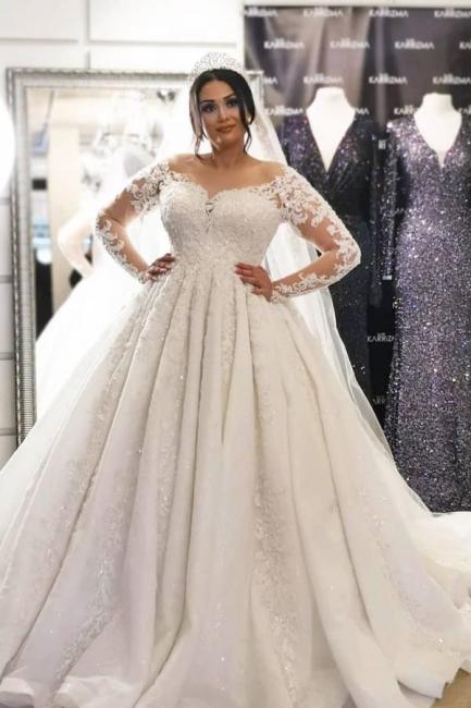 Brautkleider Große Größe   Hochzeitskleider Spitze Mit Ärmel