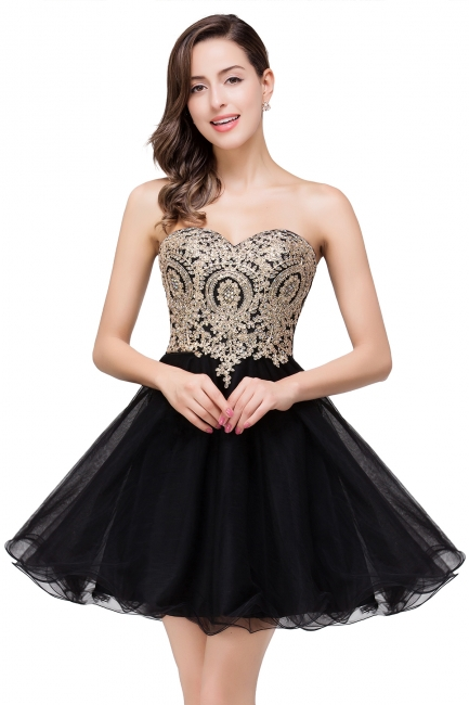 Cocktail dresses black | Evening dresses short prom dresses